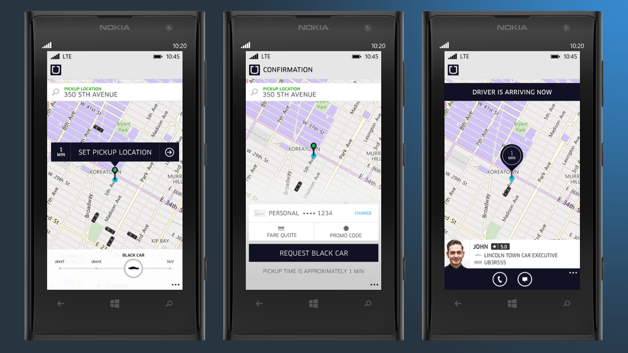 uber windows phone