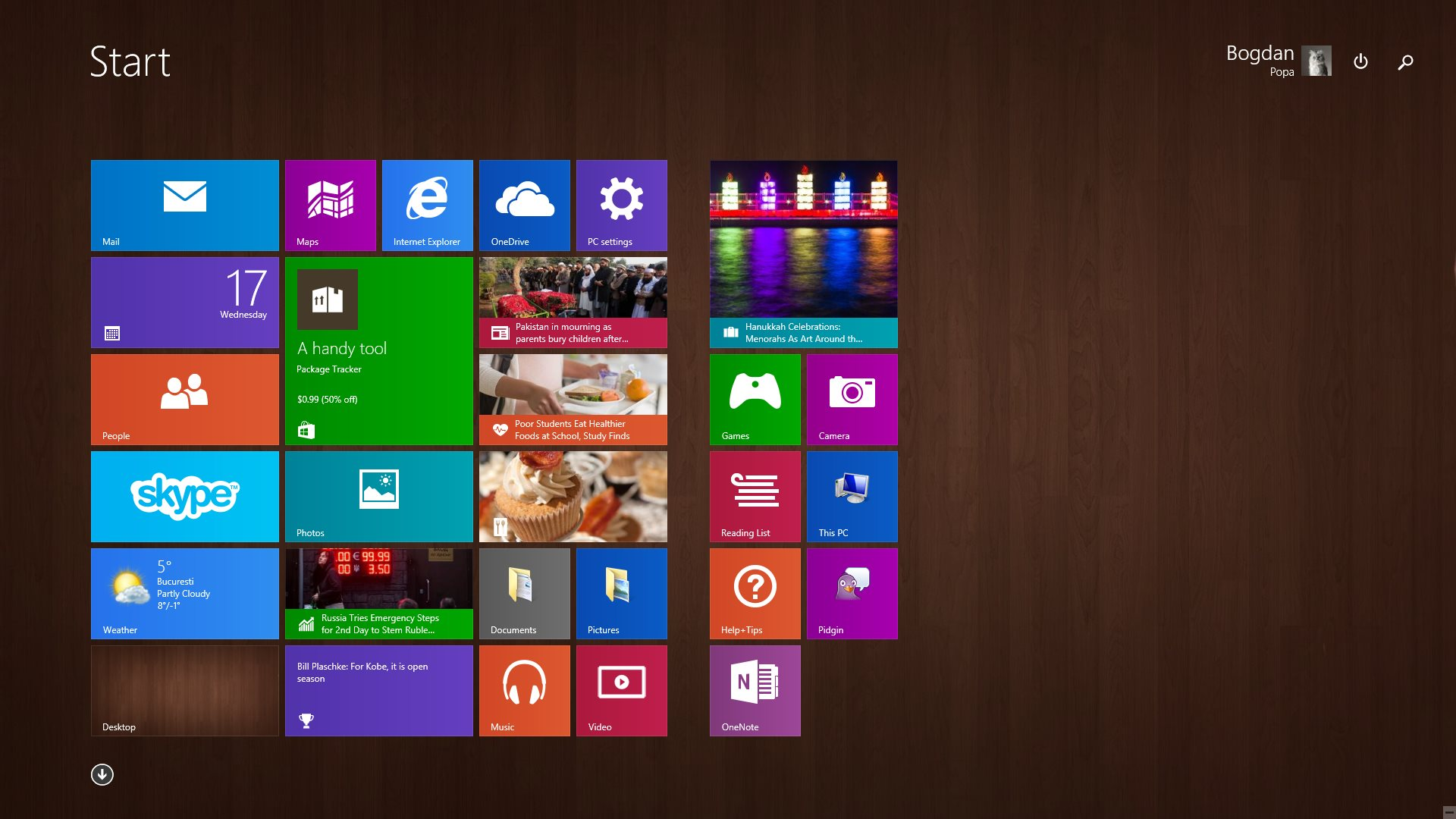 desactivar Live Tiles en Windows 10 PC